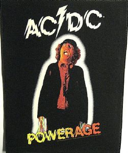 AC/DC Powerage jumbo sized sew-on cloth backpatch  360mm x 300mm -mm-